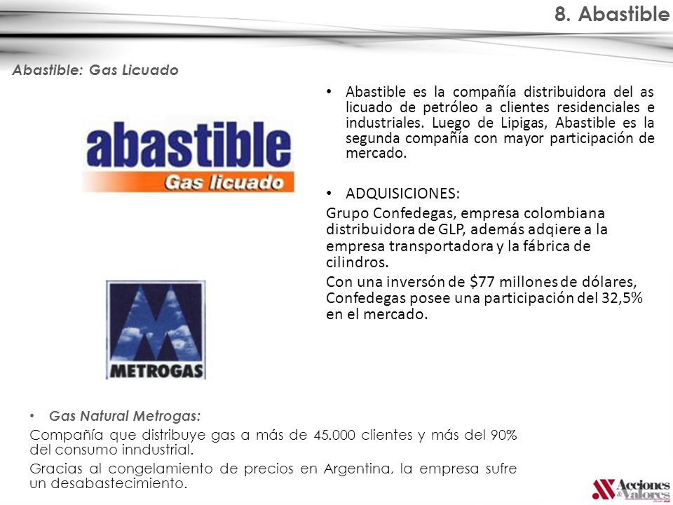 8. Abastible ADQUISICIONES:
