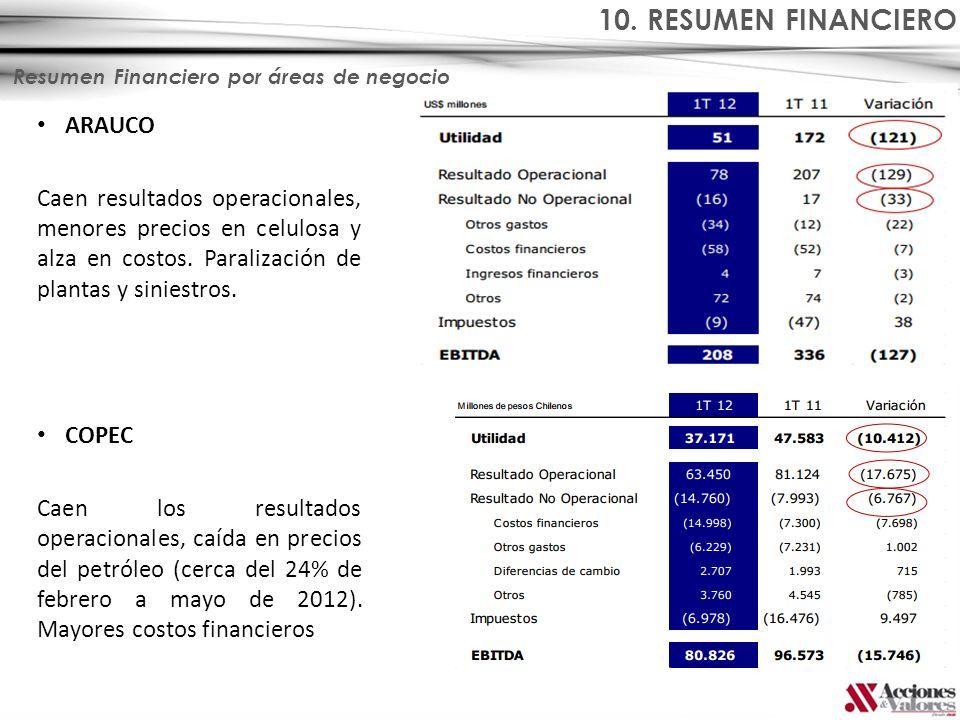 10. RESUMEN FINANCIERO ARAUCO