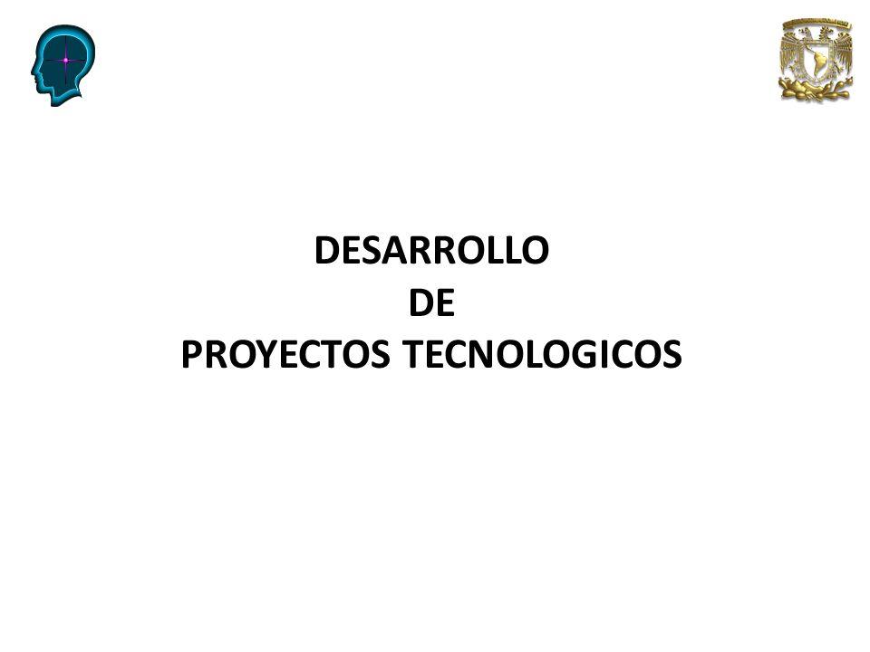 Niveles de desarrollo de tecnología PROYECTOS TECNOLOGICOS