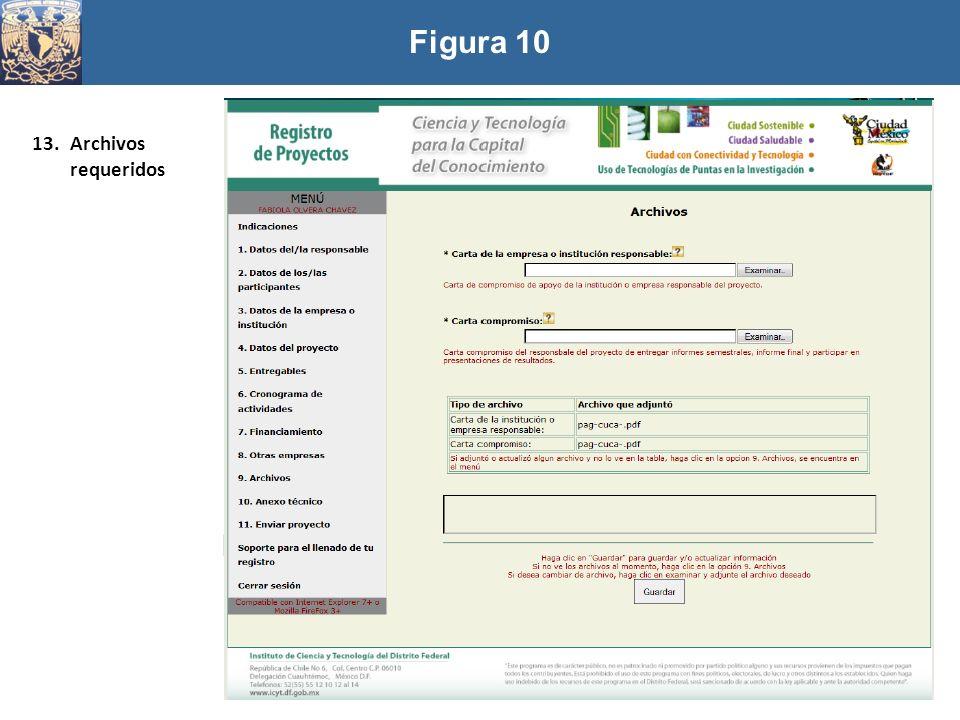 Figura 10 Archivos requeridos