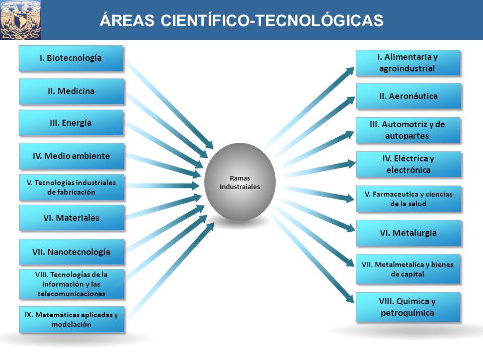 ÁREAS CIENTÍFICO-TECNOLÓGICAS