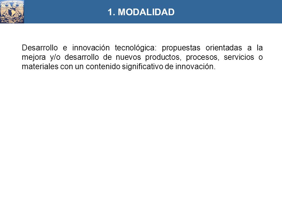 1. MODALIDAD