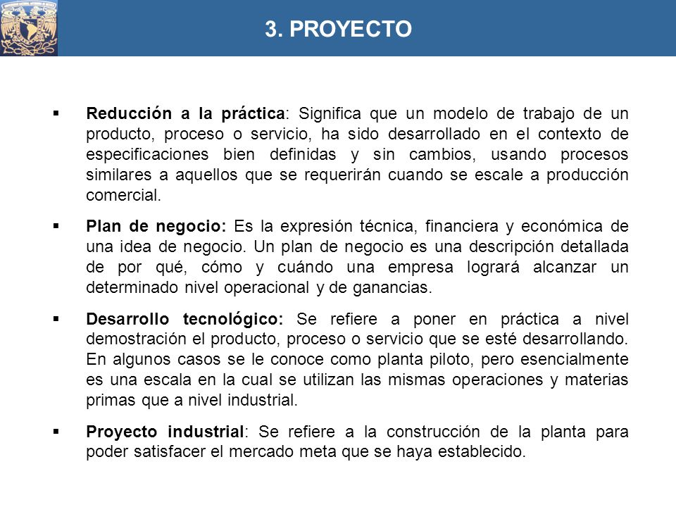 3. PROYECTO
