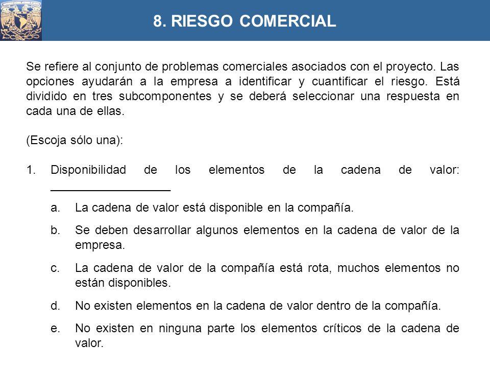 8. RIESGO COMERCIAL