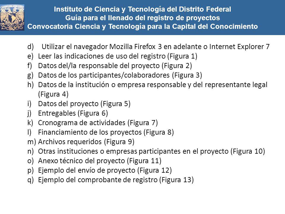 Leer las indicaciones de uso del registro (Figura 1)