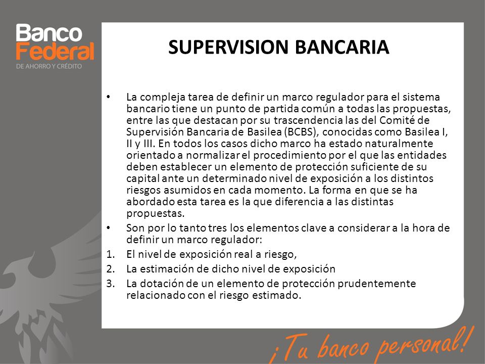 SUPERVISION BANCARIA