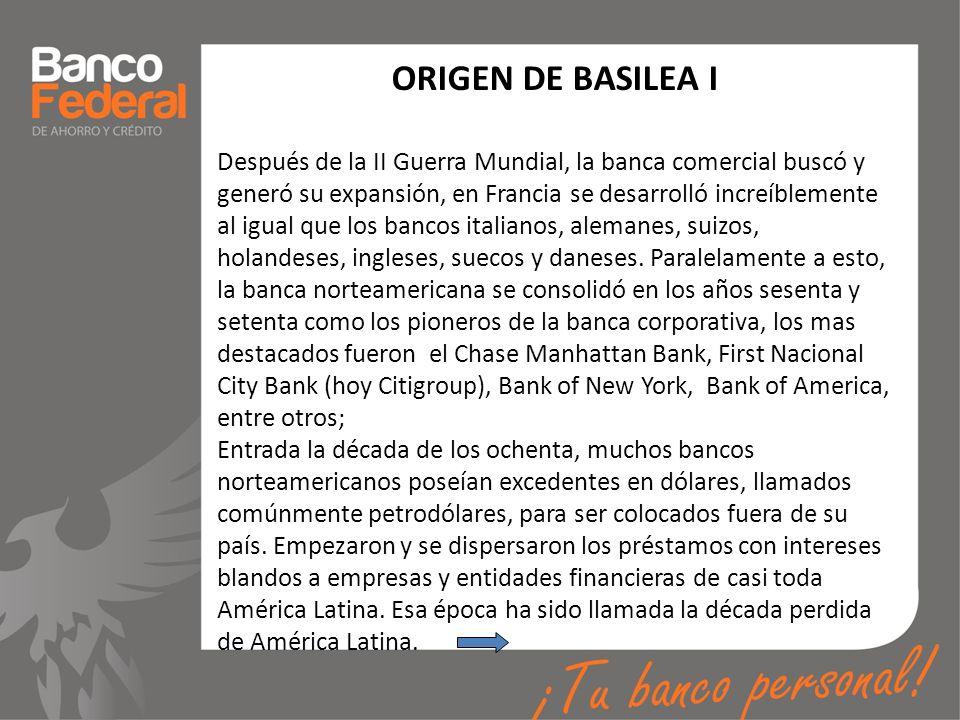 ORIGEN DE BASILEA I