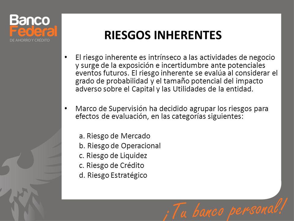 RIESGOS INHERENTES