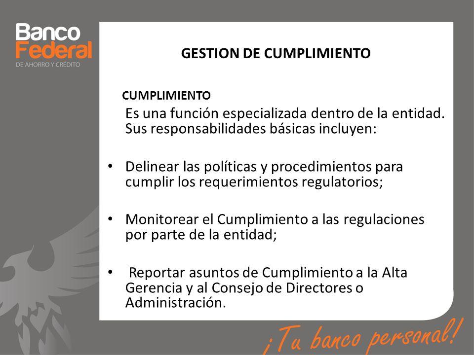 GESTION DE CUMPLIMIENTO