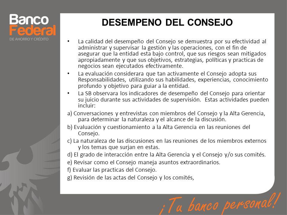 DESEMPENO DEL CONSEJO