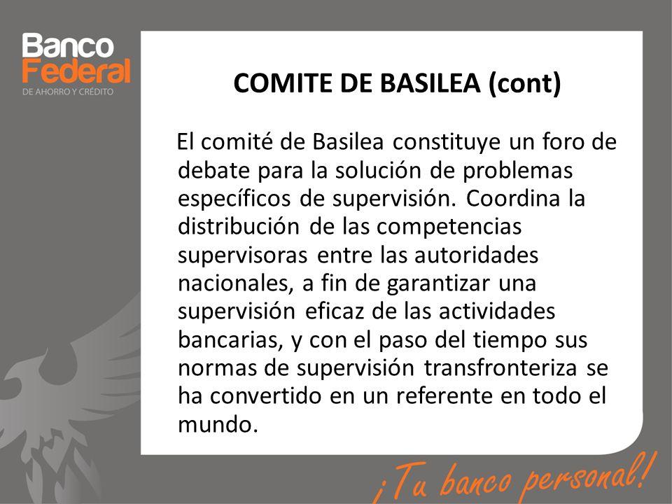 COMITE DE BASILEA (cont)