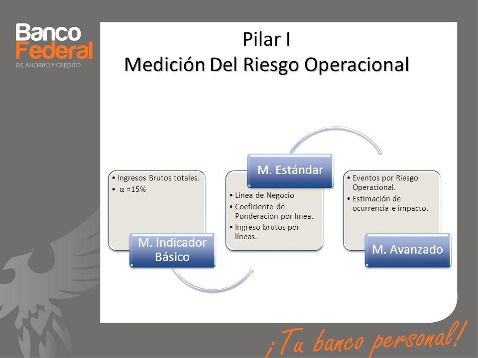 Pilar I Medición Del Riesgo Operacional