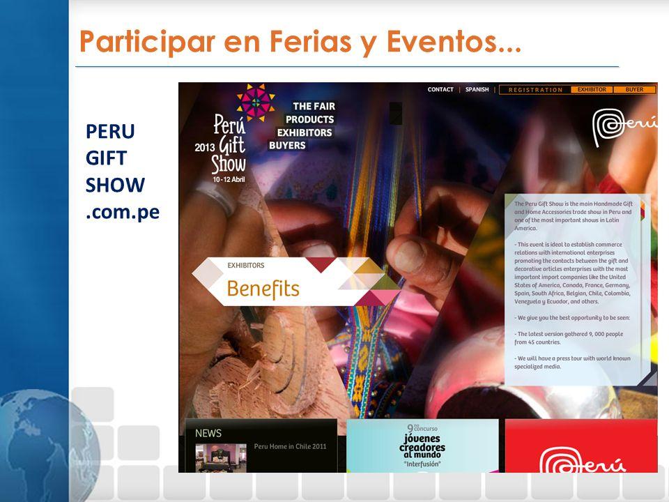 Participar en Ferias y Eventos...
