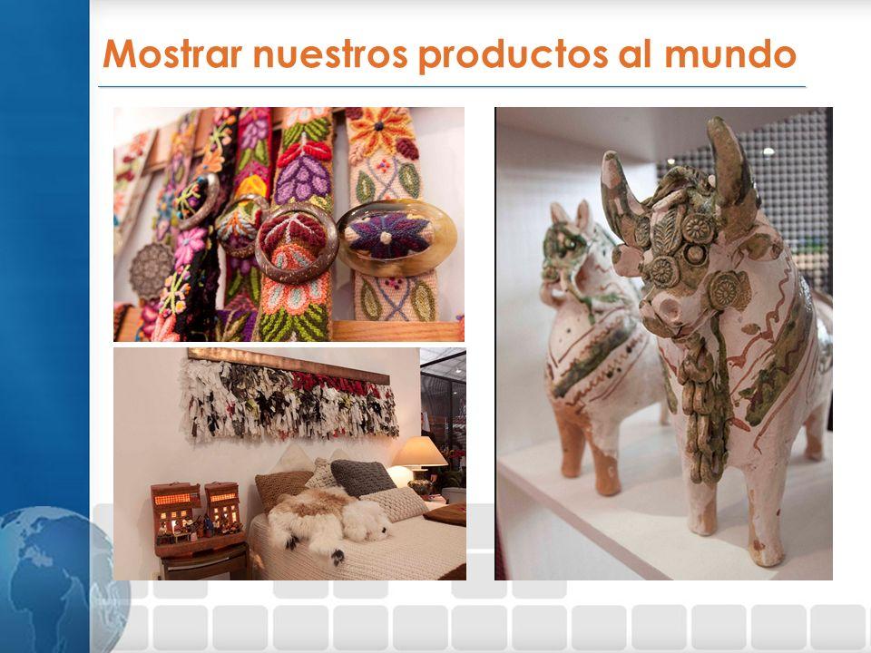 Mostrar nuestros productos al mundo