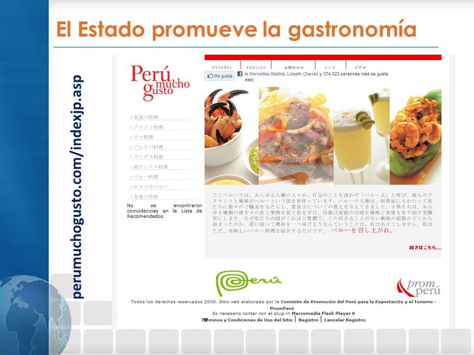 El Estado promueve la gastronomía
