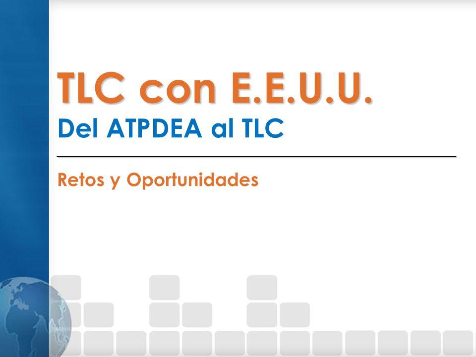 TLC con E.E.U.U. Del ATPDEA al TLC