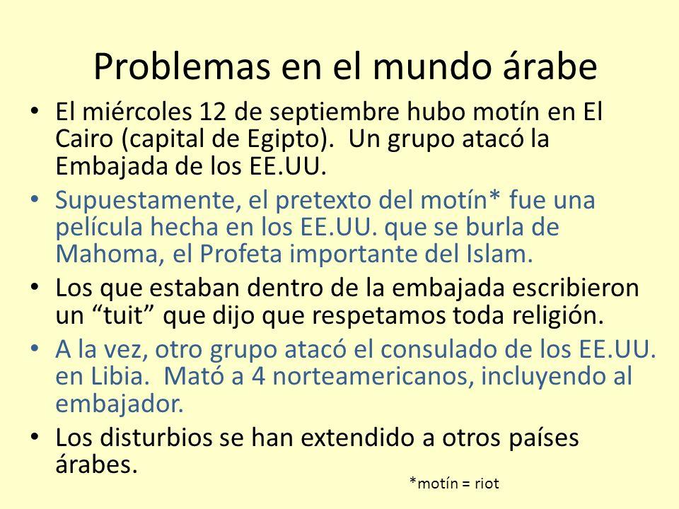 Problemas en el mundo árabe