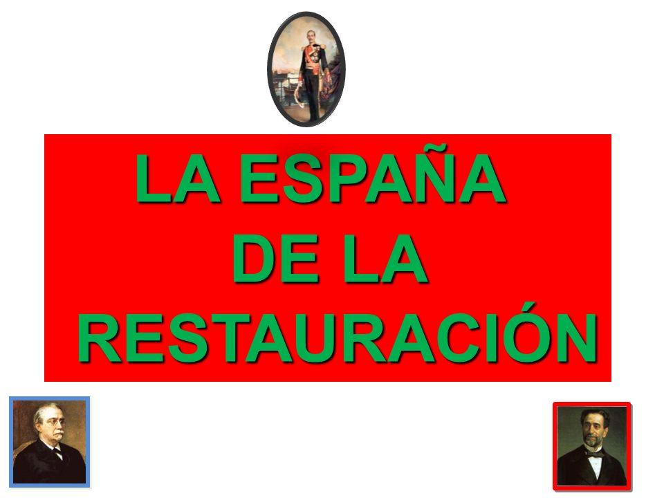LA ESPAÑA DE LA RESTAURACIÓN