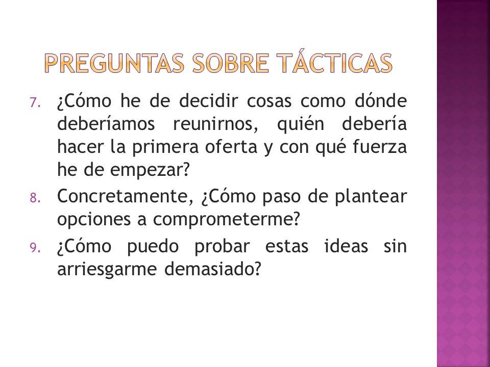 Preguntas sobre tácticas