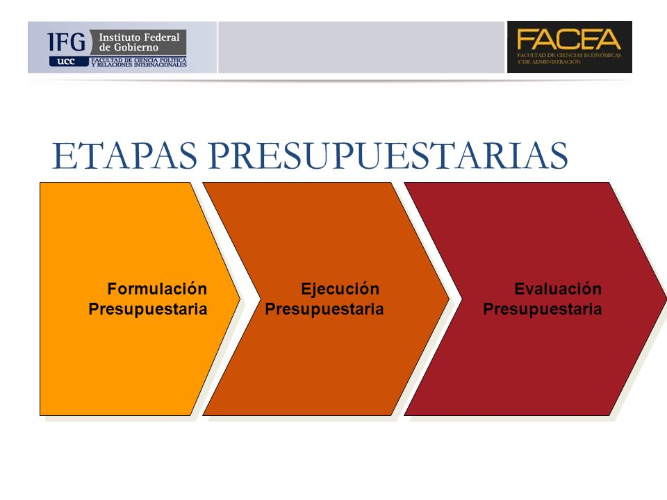 ETAPAS PRESUPUESTARIAS