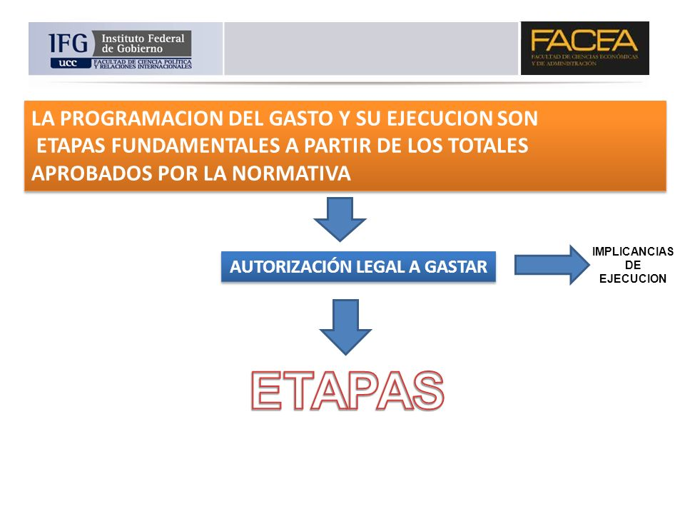 AUTORIZACIÓN LEGAL A GASTAR