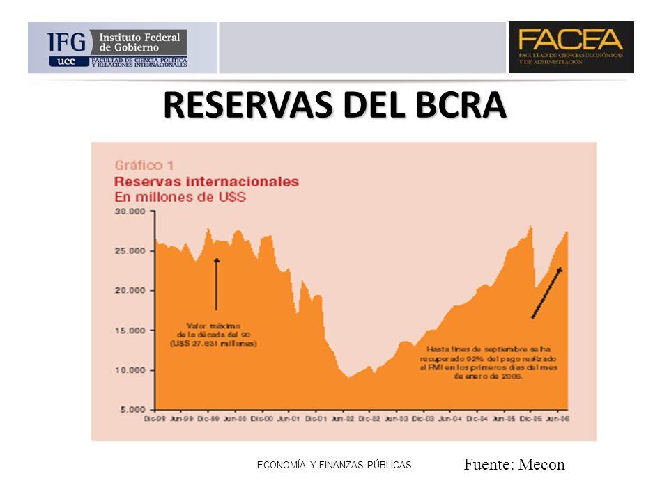ECONOMÍA Y FINANZAS PÚBLICAS