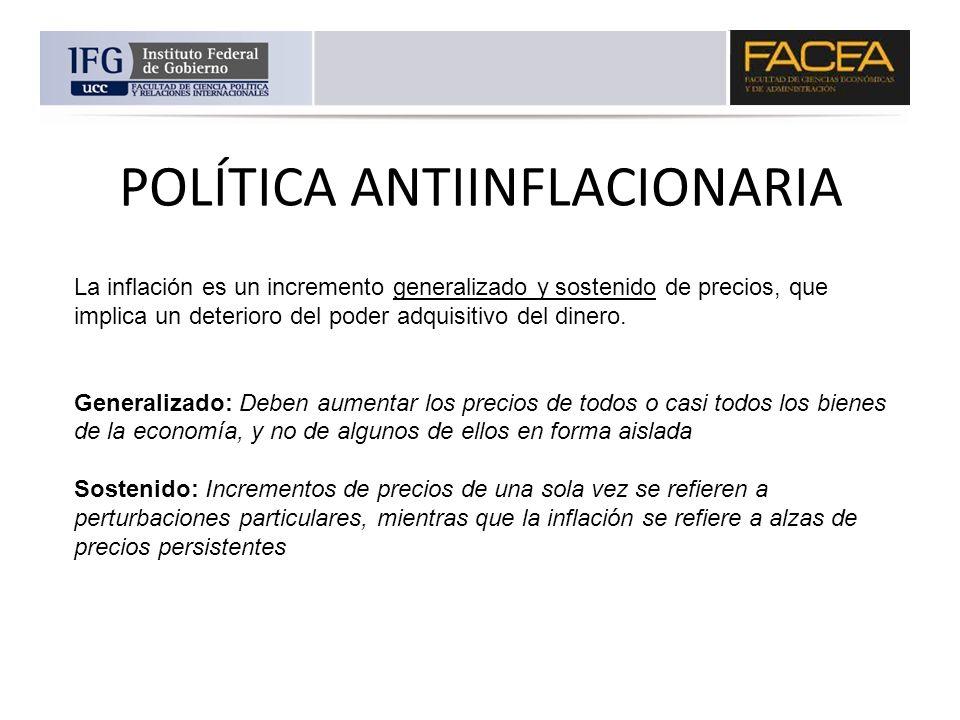 POLÍTICA ANTIINFLACIONARIA