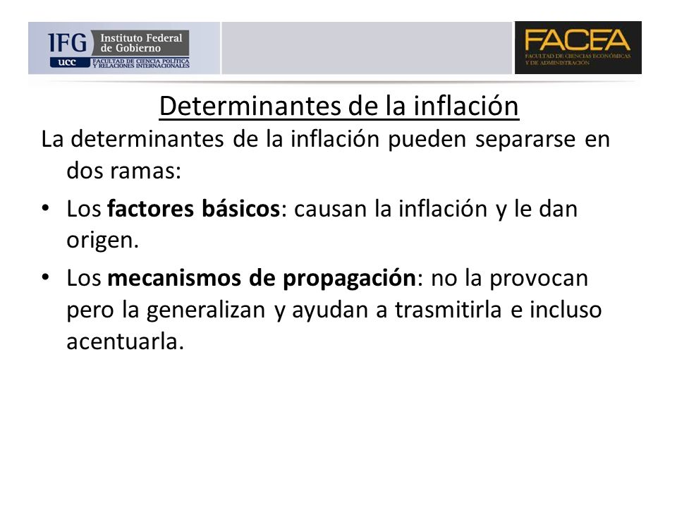 Determinantes de la inflación