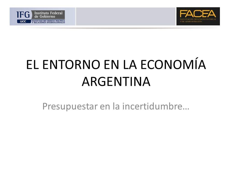 EL ENTORNO EN LA ECONOMÍA ARGENTINA