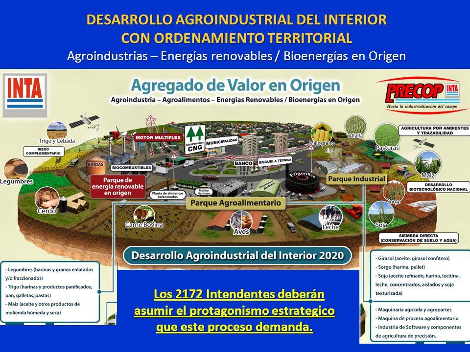 DESARROLLO AGROINDUSTRIAL DEL INTERIOR CON ORDENAMIENTO TERRITORIAL