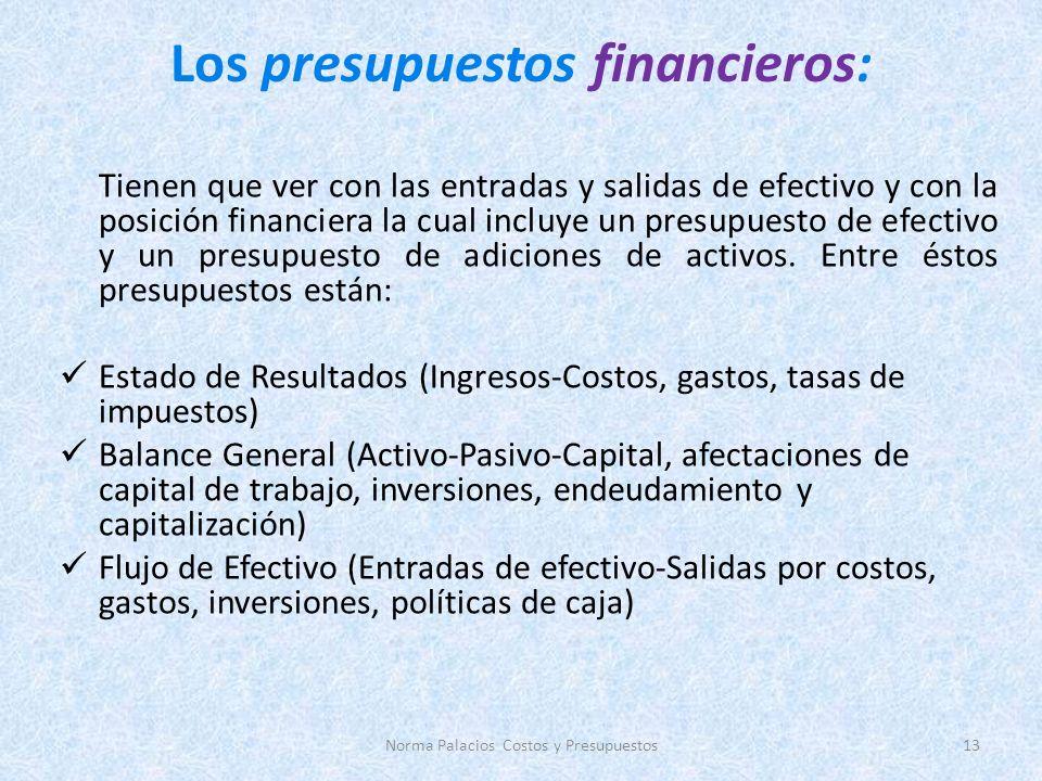 Los presupuestos financieros: