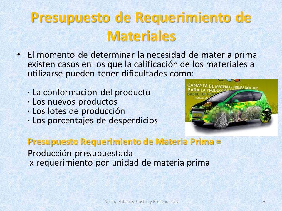 Presupuesto de Requerimiento de Materiales