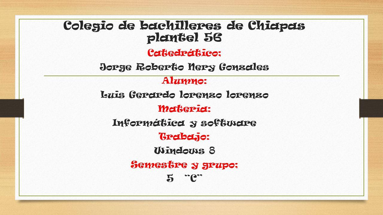 Colegio de bachilleres de Chiapas plantel 56