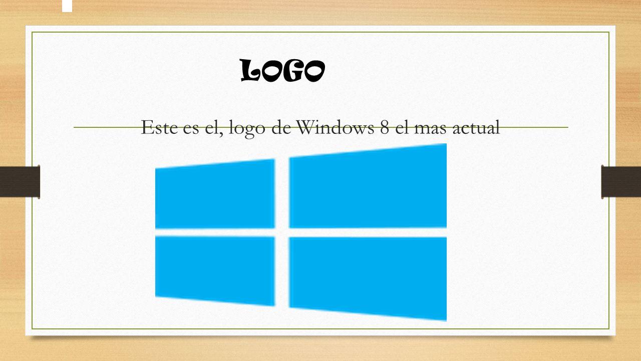 Este es el, logo de Windows 8 el mas actual