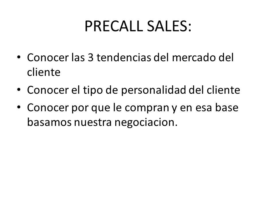 PRECALL SALES: Conocer las 3 tendencias del mercado del cliente