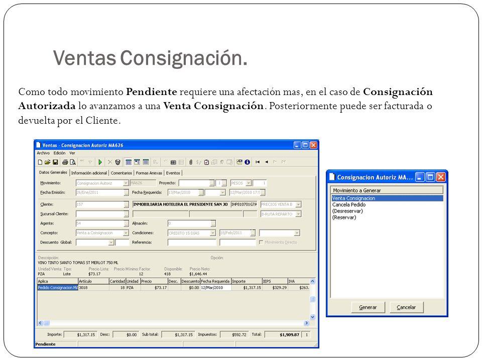 Ventas Consignación.