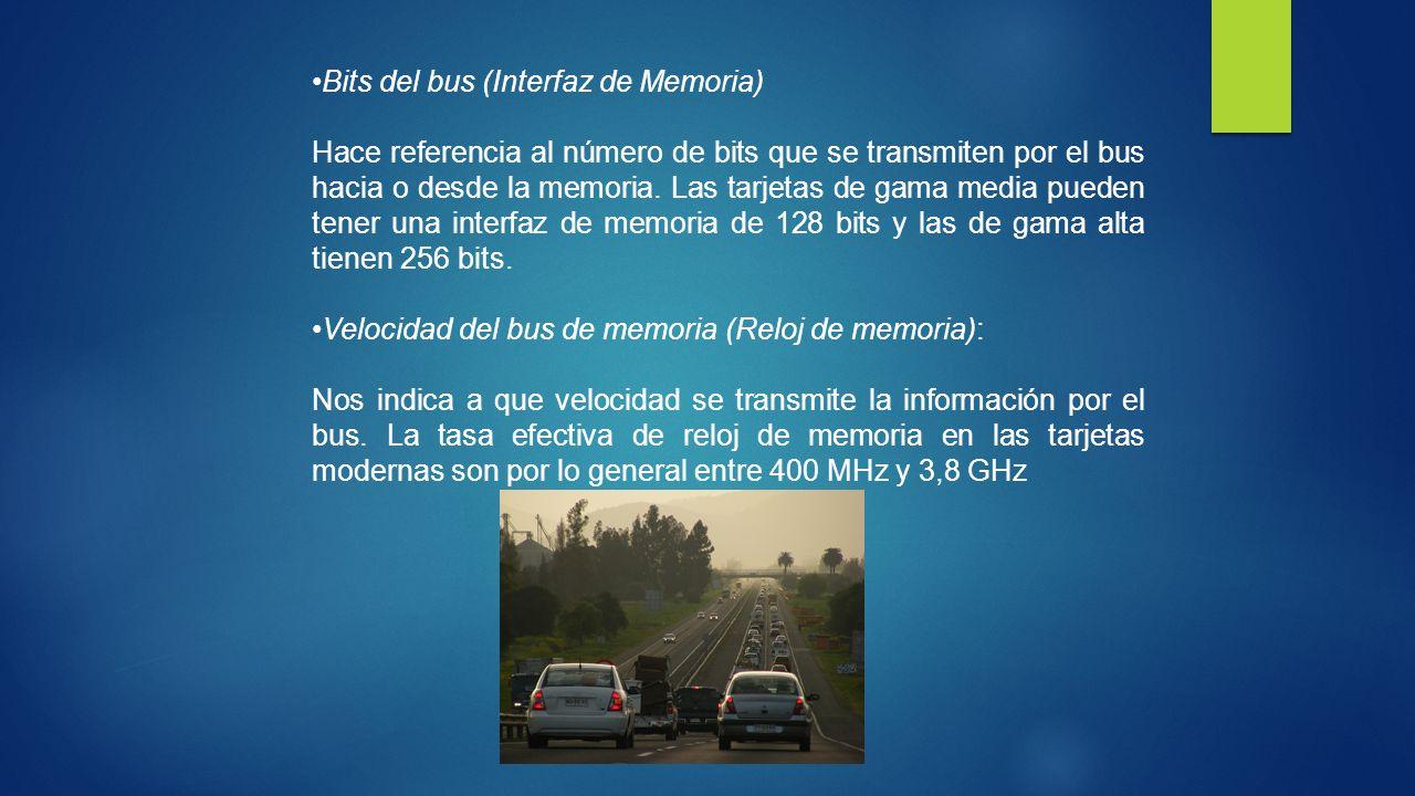 Bits del bus (Interfaz de Memoria)