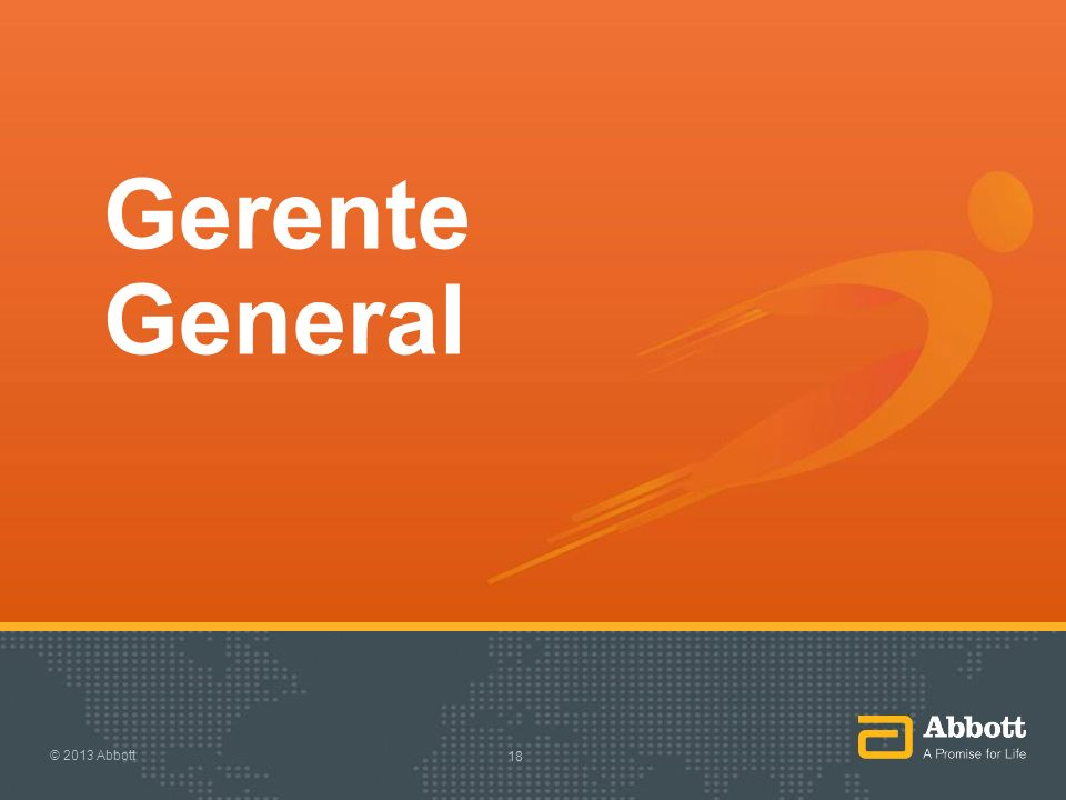 Gerente General © 2013 Abbott