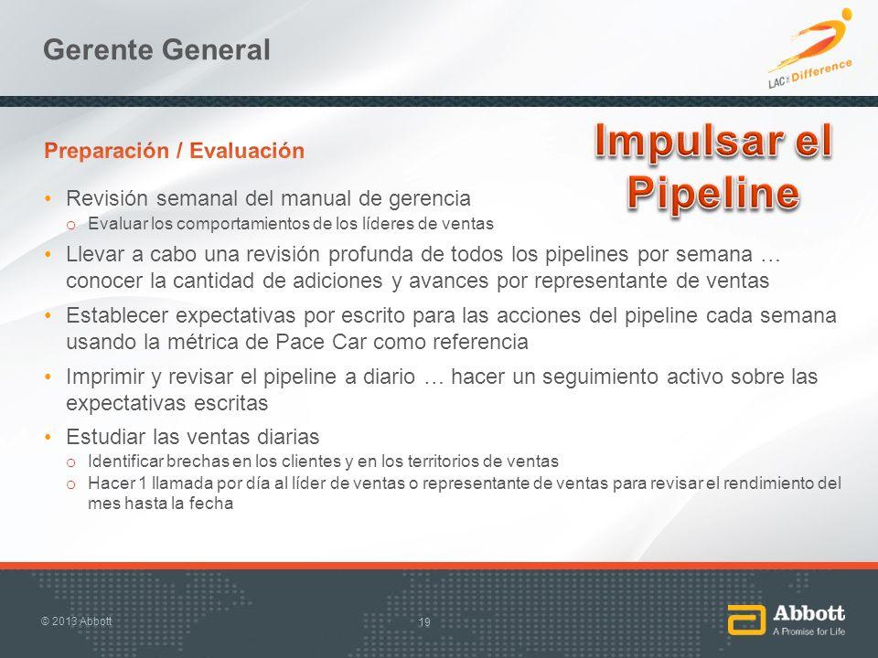 Impulsar el Pipeline Gerente General Preparación / Evaluación