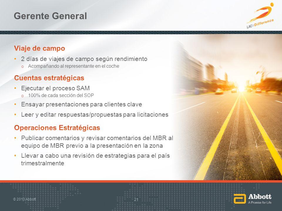 Gerente General Viaje de campo Cuentas estratégicas