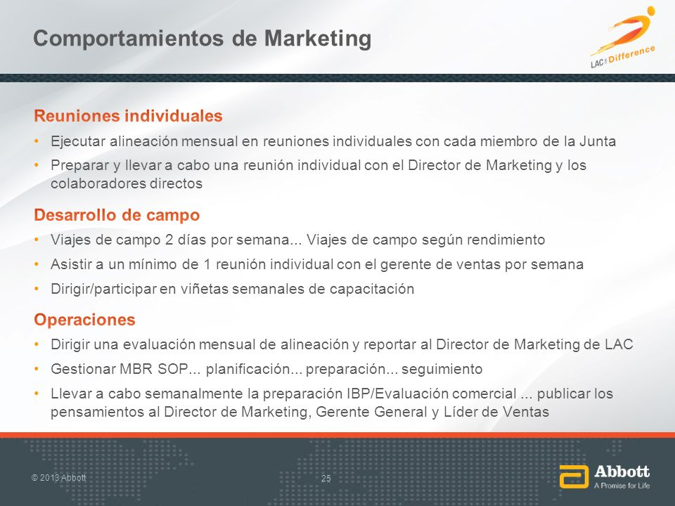 Comportamientos de Marketing