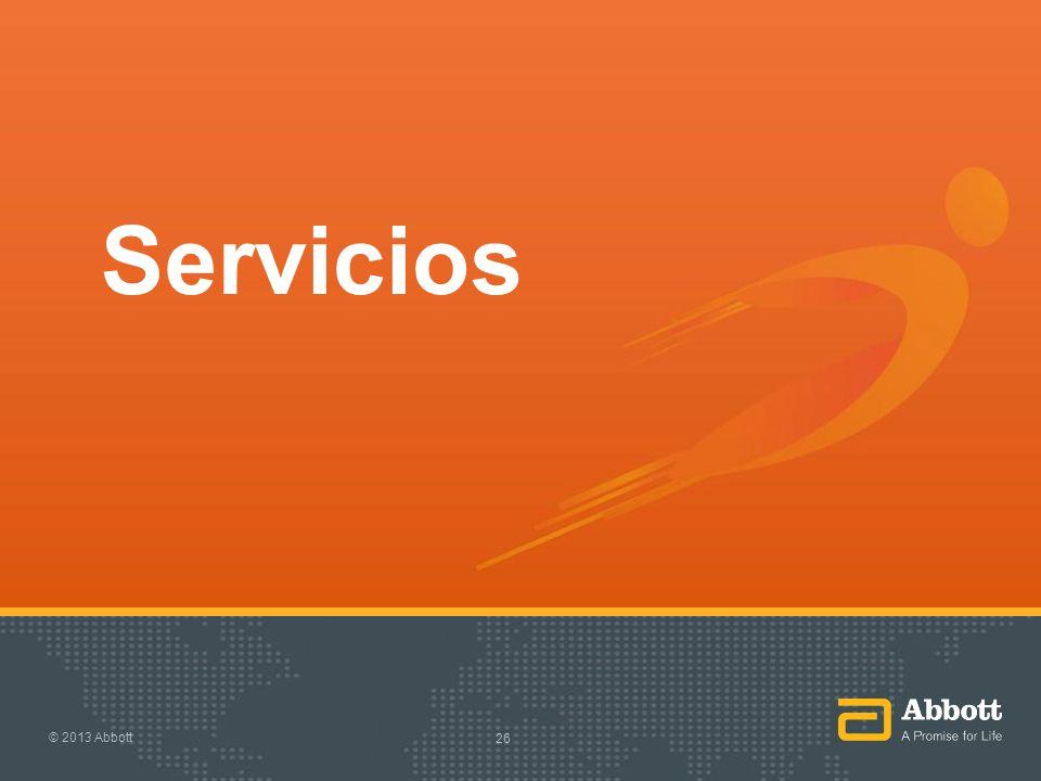 Servicios © 2013 Abbott