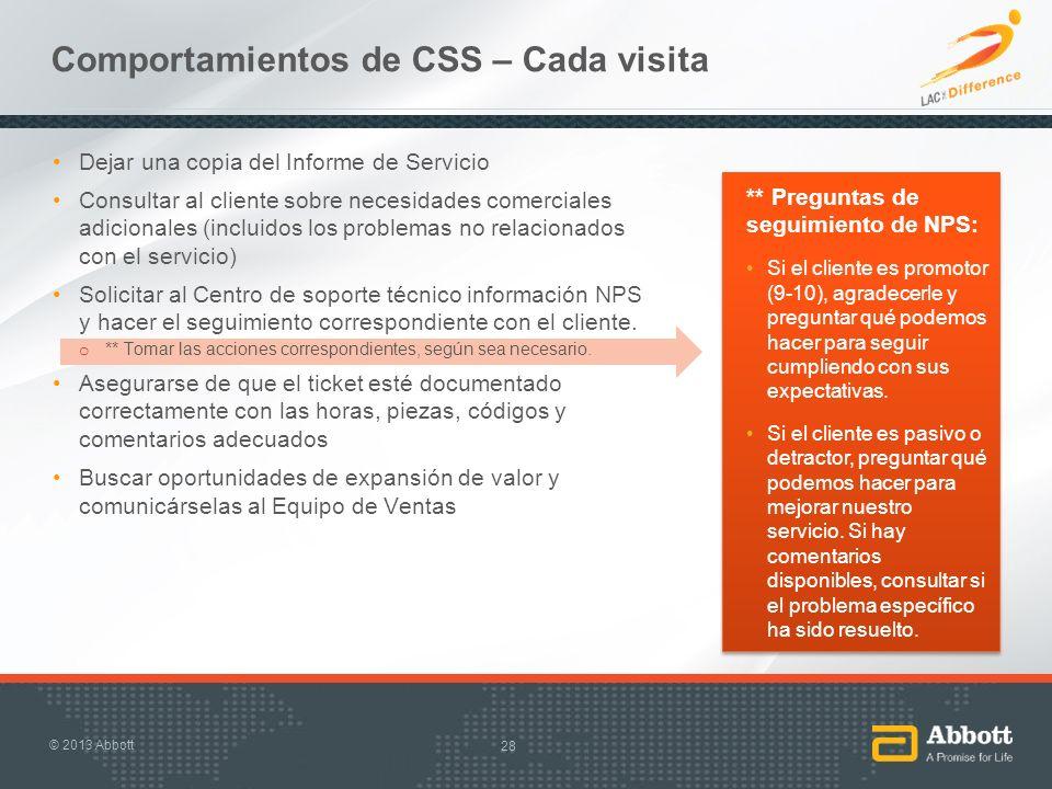 Comportamientos de CSS – Cada visita