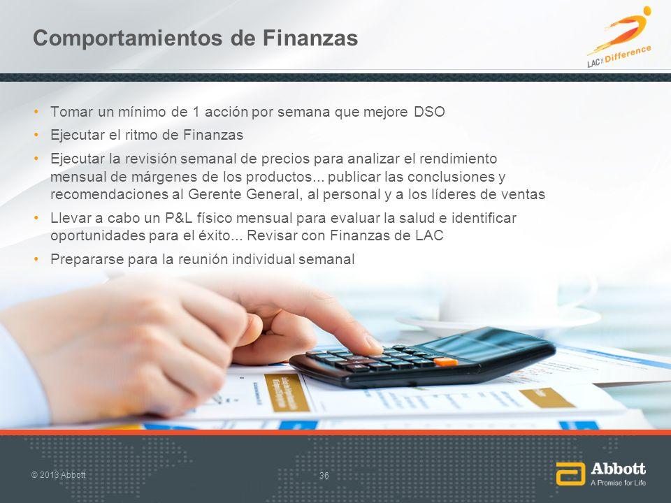 Comportamientos de Finanzas
