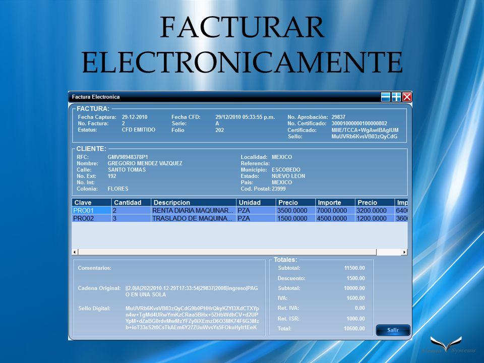 FACTURAR ELECTRONICAMENTE