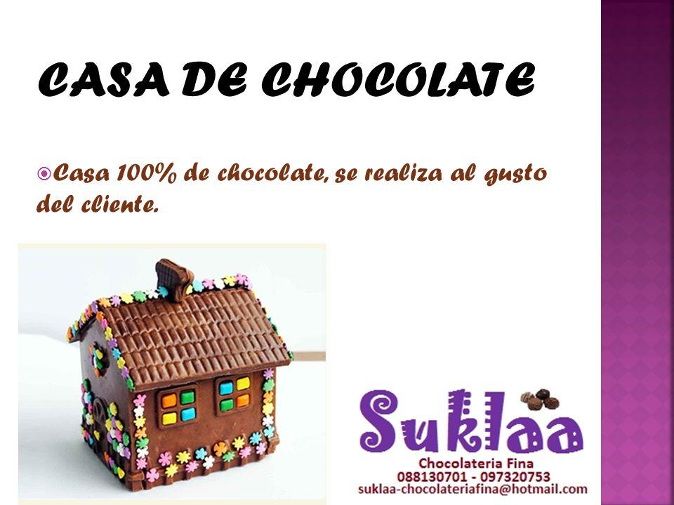 CASA DE CHOCOLATE Casa 100% de chocolate, se realiza al gusto del cliente.