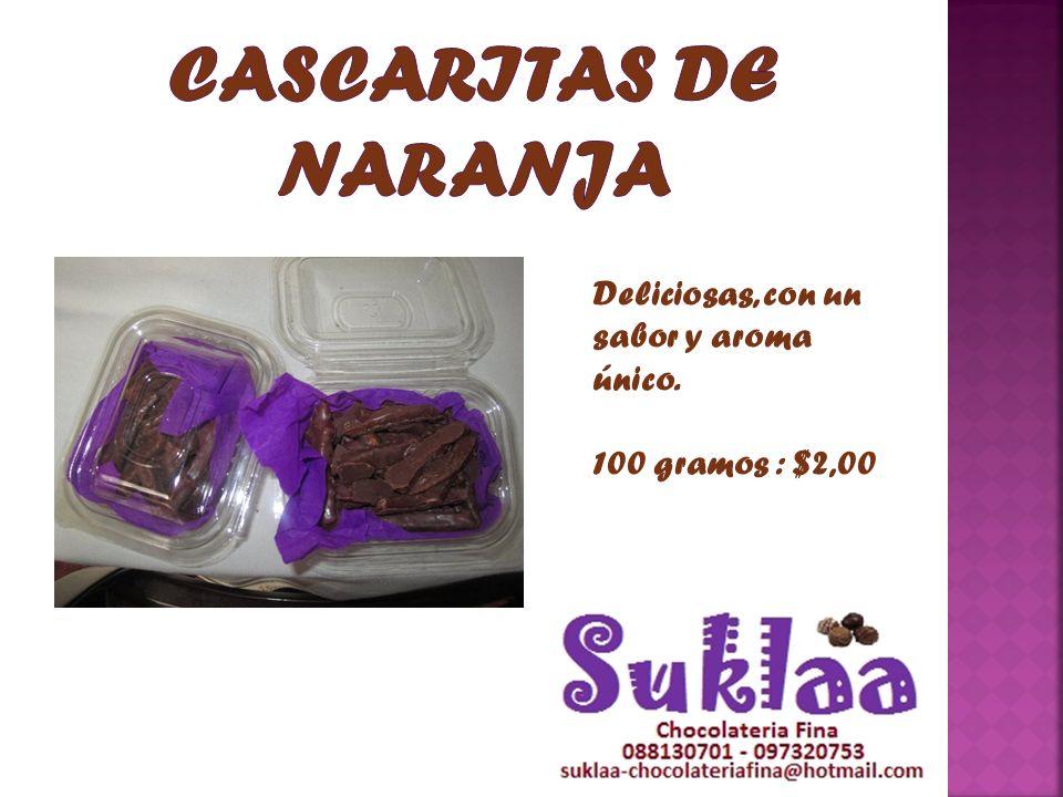 CASCARITAS DE NARANJA Deliciosas, con un sabor y aroma único.