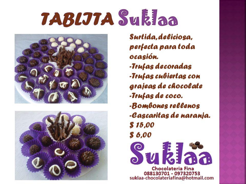 TABLITA Suklaa Surtida, deliciosa, perfecta para toda ocasión.