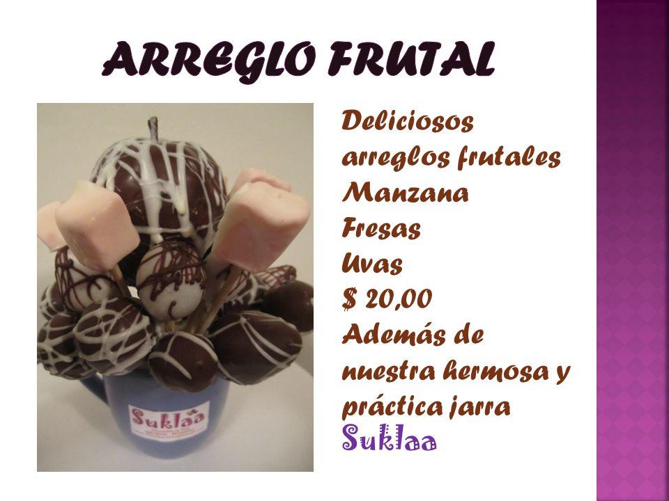 ARREGLO FRUTAL Deliciosos arreglos frutales Manzana Fresas Uvas