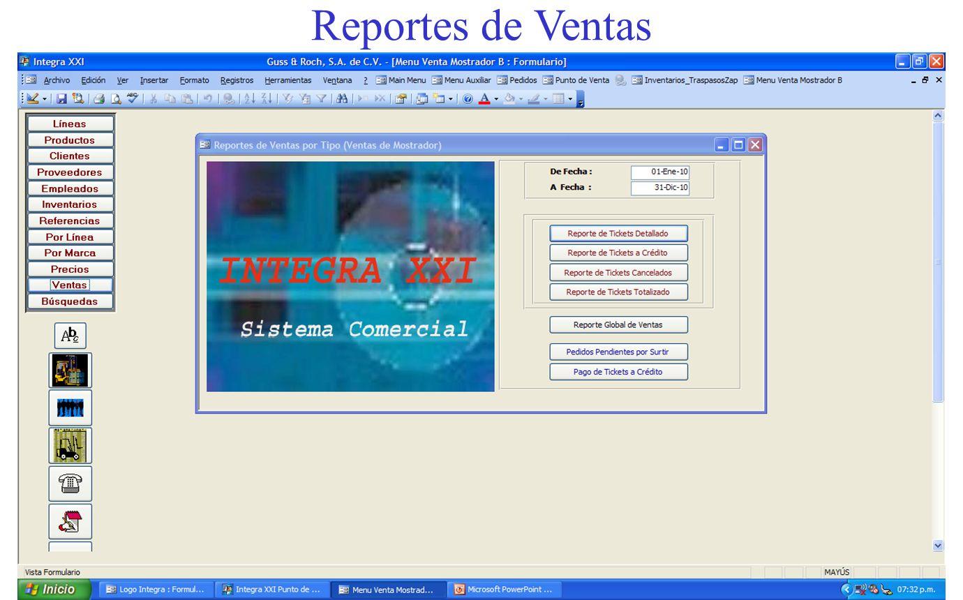 Reportes de Ventas